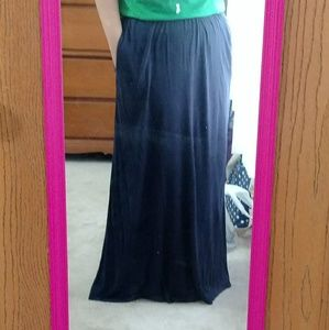 H&M Navy Maxi Skirt with pockets